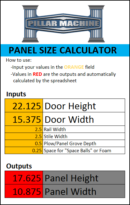 Panel size calculator