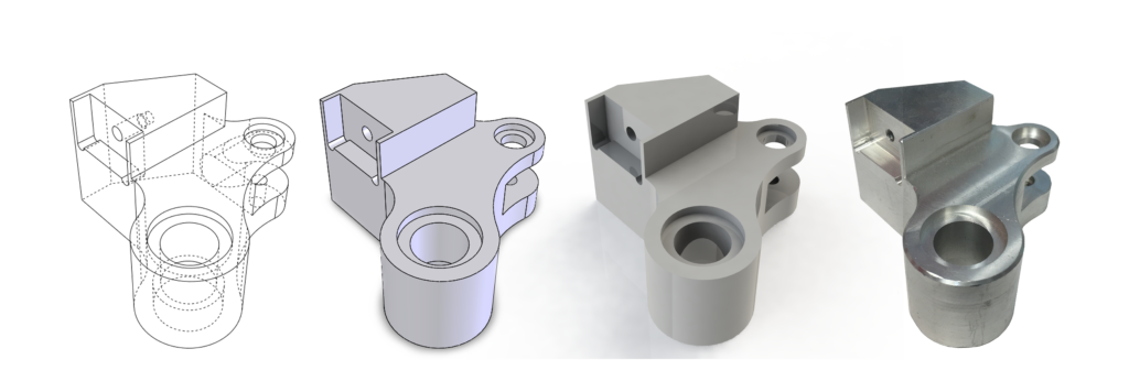Pillar Machine uses 3D design software and rendering, including custom manufacturing.